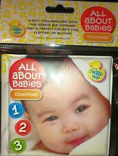 All About Babies Counting Number Bath Soft Infant Kid Educational Read Book NIB