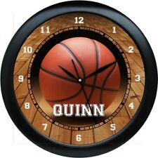 """Basketball Wall Clock 10.75"""" Personalized Gift Boys Bedroom Decor Sports Team"""