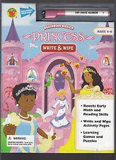 Princess Write & Wipe Begining Basics Childrens Book Unused