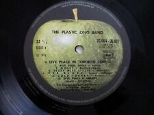 "JOHN LENNON PLASTIC ONO BAND ""LIVE PEACE 1969"" FRENCH BEATLES  NEAR MINT"
