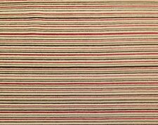 """JORDAN FABRICS CHENILLE STRIPES RED BROWN HEAVY UPHOLSTERY BY THE YARD 58""""W"""