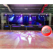 LEDJ 6m x 3m DMX LED Starcloth System, Black Cloth White LED Curtain Backdrop