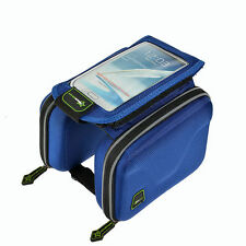 RockBros Cycling Bike Frame Bag For 5.5Touch screen Phone Holder Panner Bag Blue