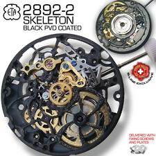 MOVEMENT AUTOMATIC ETA 2892-A2, SKELETON BLACK PVD COATED, FACTORY NEW
