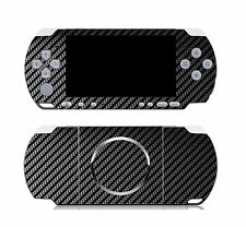 Black Carbon Fiber Vinyl Decal Skin Sticker Cover for Sony PSP 3000