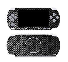 Black Carbon Fiber Vinyl Decal Skin Sticker Cover for Sony PSP 3000
