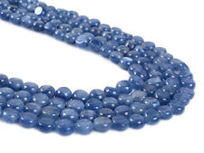 0771 6mm Kyanite flat round coin disc loose gemstone beads 16""