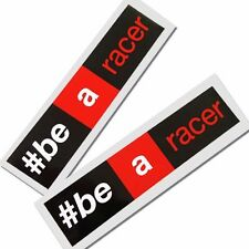 Aprilia #Be a racer  Motorcycle graphics stickers decals x 4 rectangle 3 colour