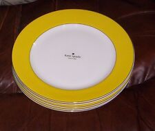 NWT Kate Spade New York~ Lenox  Rutherford Circle Yellow Set Of 4 Dinner  Plates