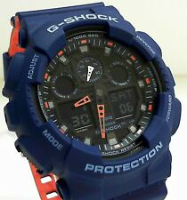 New Casio G-Shock Layered Band Ana Digi World Time Watch GA-100L-2A