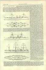 1892 Navy Of The United States Completed Vessels Table