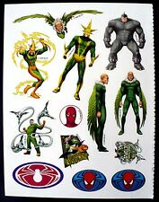 "2006 MARVEL 13 STICKERS 1 SHEET 8.5"" x 11"" SPIDERMAN ELECTRO VULTURE DOC OCK"