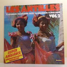 """2 x 33T LES ANTILLES Disques LP 12"""" MARTINIQUE GUADELOUPE HAÏTI LA DOMINIQUE"""