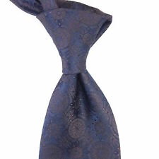NEW Stefano Ricci Dark Blue Gray Iridescent 100% Silk Tie
