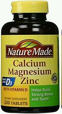 Nature Made Calcium Magnesium Zinc Tablets with Vitamin D3 200 Count Tablets