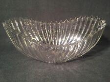 Cut Crystal Glass Fan Style Dish/Bowl (ref W116)