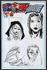 WITCHBLADE TOMB RAIDER FATHOM MAGDALENA ORIGINAL SKETCHES MICHAEL TURNER + COA