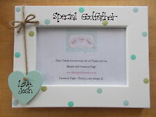 Personalised Wooden Special Godfather Christening Photo Frame Gift QUICK POSTAGE