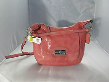 COACH KRISTIN ROSE PATENT LEATHER HOBO HANDBAG 19299