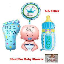 4 Pcs Boy Foil Helium Balloon For Newborn Baby Shower Christening Birthday Party