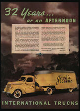 1938 INTERNATIONAL HARVESTER Yellow Truck - Jack's Cookies - Florida  VINTAGE AD