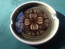 JERSEY POTTERY HAND PAINTED GLAZE ASHTRAY c70s VTG MCM EXC