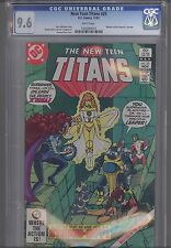 The New Teen Titans #25  CGC 9.6 1982: Masters of Universe Preview