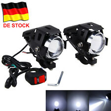 2X Motorrad LKW U5 125W 3000LM LED Scheinwerfer Zusatzscheinwerfer Fog Lampe