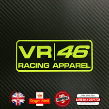 FLUORESCENT Yellow Valentino Rossi VR 46 Sticker Decals  Vinyl 120mm F251