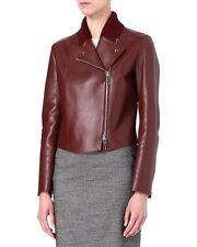 SPORTMAX by MAX MARA Leather Jacket  size 8 USA,10 GB,38 D,42 I, 40 F  NEW