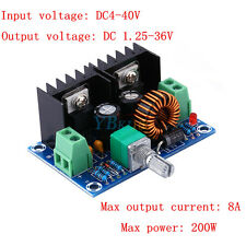 New DC-DC Buck Converter 4V-40V 8A 100W Step-Down Voltage Power Module