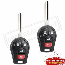 2 Replacement For 2005 2006 Nissan Altima Key Remote Entry Case