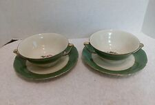 Vintage Royal Epiag, Cream Soup Bowls with Saucers