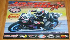2014 Jason Duplantis signed KWS Motorsports Yamaha YZF-R6 Supersport AMA poster