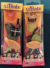 LIL BRATZ FASHION PACK 2 SETS OUTFITS SHOES AND PURSES 2004 NEW
