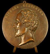 Michael Miguel de Cervantes Saavedra médaillon médaille medal 10 cm bronze 199 g