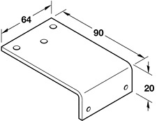 Fixing Bracket For Parallel Arm Installation, For Mounting Arm Parallel To Door