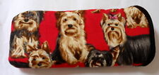 BN-YORKSHIRE TERRIERS  - GLASSES CASE - cotton- ideal small gift