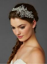 Bridal and Wedding Hair Comb Tiara- Handmade Crystal Teardrop Rhinestone Vine