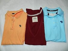 WOMENS YOUTH JUNIOR LOT OF 3 SHIRTS = ABERCROMBIE & HOLLISTER = SIZE XS & S fq16