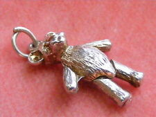 VINTAGE STG SILVER CHARM ARTICULATED TEDDY BEAR