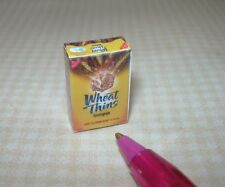 Miniature Thin Whole Wheat Crackers Box: DOLLHOUSE Miniatures 1/12 Scale