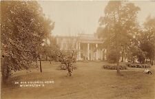 Ohio Postcard Real Photo RPPC 1910 WILMINGTON An Old COLONIAL HOME Mansion