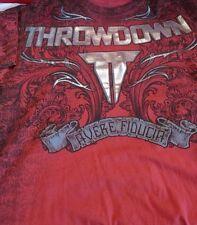 Men's ThrowDown Premium T shirt L SS Red/Silver