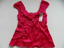 Nanette Lepore Womens Tank Top Shirt Mistress Top Size 4 Red Raspberry New T22