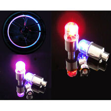 4 X Colorful LED Wheel Tyre light Tire Valve Cap Flash for Bike Car Motorbicycle