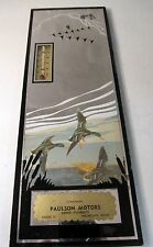 30's Paulson Motors DODGE PLYMOUTH Enumclaw WA advertising THERMOMETER mirror *