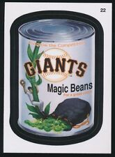 2016 TOPPS WACKY PACKAGES MLB - SAN FRANCISCO GIANTS MAGIC BEANS - #22