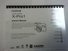 FUJIFILM X-PRO1 PRINTED INSTRUCTION MANUAL USER GUIDE 136 PAGES