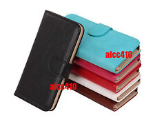 Apple iPhone 5 5S 5SE Leather Flip Wallet Case Pouch Cover Card Slots